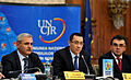 Liviu Dragnea, Victor Ponta si Marian Oprisan la Adunarea Generala a UNCJR, Palatul Parlamentului - 03.12.2013 (4) (11190398095).jpg
