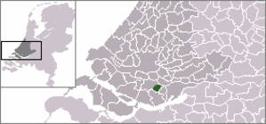 Maasdam - Location of the former municipality of Maasdam within the Netherlands