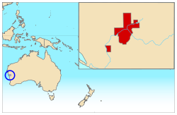 Location of Principality of Hutt River