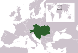 Location of Austrija-Vengrija