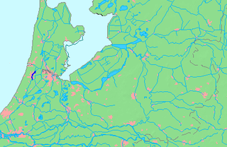 Spaarne river in Haarlem