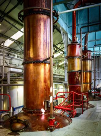 Loch Lomond distillery - Loch Lomond Distillery stills