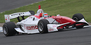 Loïc Duval - Duval during free practice at the first Motegi round of the 2010 Formula Nippon season.