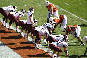 2006 Texas A&M Aggies football team - Image: Lone Star Showdown 2006 Mc Gee on goal line