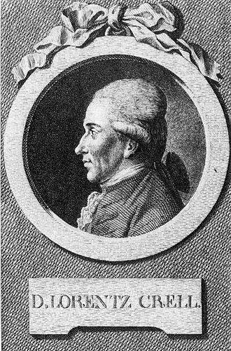 Lorenz Florenz Friedrich von Crell - Image: Lorentz von Crell