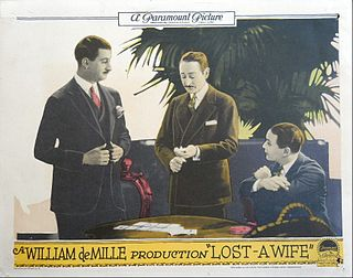 <i>Lost: A Wife</i> 1925 film by William C. deMille