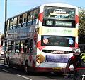 Lothian Buses bus 836 Volvo B9TL Wrightbus Eclipse Gemini SK07 CBX Harlequin livery.jpg