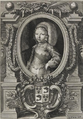 Louis, Dauphin of France in circa 1663 by an unknown artist showing the arms and crown of the dauphin.png