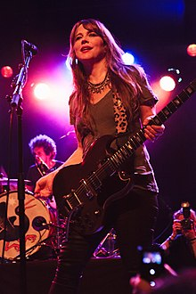 Louise Post performing with Veruca Salt at the El Rey Theatre, Los Angeles in 2015. Photo by Alison Dyer.