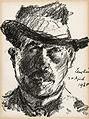 Lovis Corinth Selbstbildnis im Schlapphut 1920.jpg