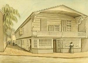 Benjamin Loxley house - Benjamin Loxley house, 1828 watercolor 177 South Second Street, Old Philadelphia