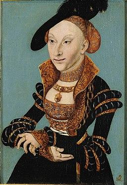 Lucas Cranach d.Ä. - Sibylle von Cleve (Veste Coburg)