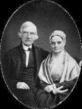 Retrato en daguerrotipo de Lucretia y James Mott sentados juntos