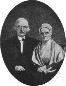 Daguerreotype portrait of Lucretia and James Mott sitting together