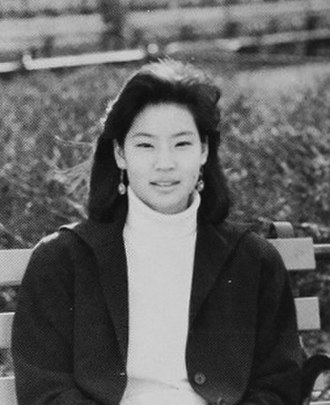 Lucy Liu - Lucy Liu as a high school senior in 1986