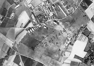 RAF Manston - A Luftwaffe aerial photograph of RAF Manston at the outbreak of war in 1939 when it was still an all-grass airfield