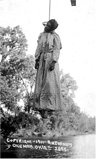 Lynching - The lynching of Laura Nelson in Okemah, Oklahoma, on May 25, 1911