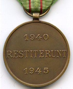 Civilian Resistance Medal - Image: Médaille du Résistant civil revers