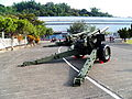 M114A1 155mm Howitzer and M59A2 155mm Cannon Display at ORDC Right Rear View 20121013a.jpg