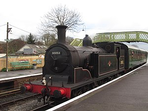 LSWR M7 class - Preserved No. 30053 at Corfe Castle railway station