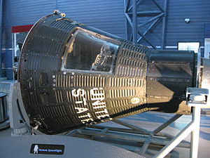 Mercury-Atlas 10 - Image: MA 10 Freedom 7 II Steven F. Udvar Hazy Center in Chantilly, Virginia