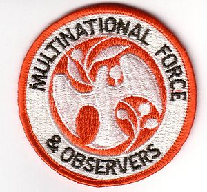 Multinational Force and Observers - MFO badge