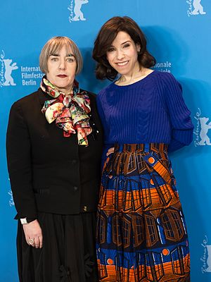 Maudie (film) - Director Aisling Walsh and Sally Hawkins at the Berlinale 2017.