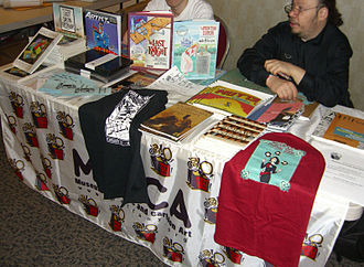 Museum of Comic and Cartoon Art - The MoCCA table at the Big Apple Con, November 14, 2008