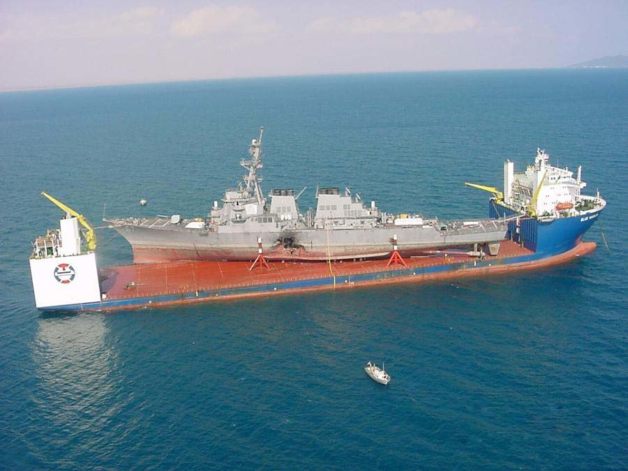 MV Blue Marlin carrying USS Cole