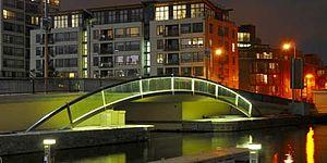 Seán Mac Mahon - Sean Mac Mahon Bridge in Grand Canal Dock, Dublin City.