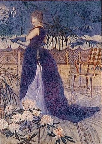 Madame Hector France, 1891, Musee d'Orsay Madame Hector France, Cross.jpg