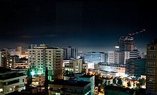 Magnificent Nicosia skylines by night Republic of Cyprus.jpg