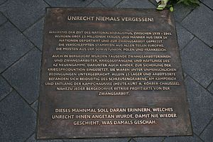 Jan de Weryha-Wysoczański - Image: Mahnmal Kampdeich Bergedorf, Gedenktafel