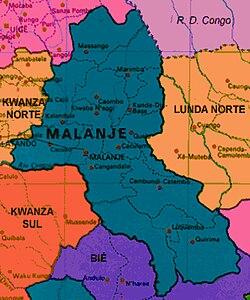 Mapa da província de Malanje