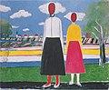 Malewitch - Zwei Figuren in einer Landschaft.jpeg