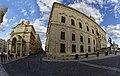 Malta - Valletta - South Street - Merchant's Street - St. Catherine of Italy Church - Auberge de Castille 1744 by Andrea Belli.jpg