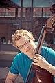 Man Playing a Double-Bass - North River District, San Antonio, Texas (2015-03-22 by Nan Palmero).jpg