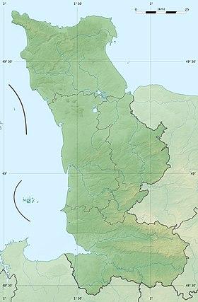 Voir sur la carte topographique de la Manche