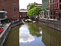 Manchester, Rochdale Canal-Canal Street from Minshull Street Bridge looking Southwest - geograph.org.uk - 1435307.jpg