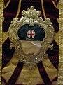 Manifattura fiorentina, pianeta in velluto broccato, 1700-50 ca, da s.martino a manzano, stemma panciatichi.JPG