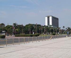 Manila Hotel - Manila Hotel from afar.