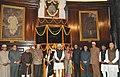 Manmohan Singh, the Speaker, Lok Sabha, Smt. Meira Kumar, the Leader of Opposition in Lok Sabha, Smt. Sushma Swaraj, the Chairman, BJP Parliamentary Party.jpg