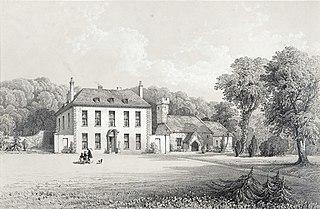 Manor house and church, Gileston, Glamorganshire
