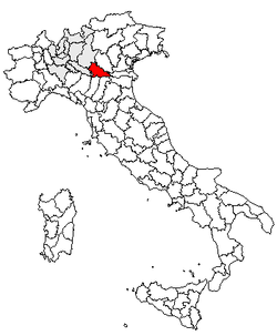 Location of Province of Mantua