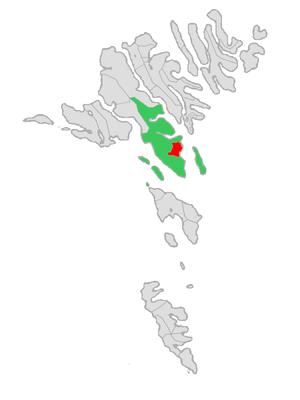 Tórshavn Municipality - Image: Map position torshavn kommuna 2005