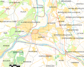 Best map of the commune of avignon with code postal avignon for Code postal avignon