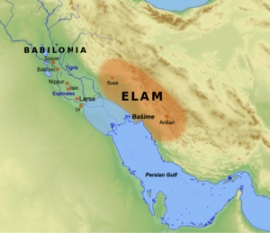 Gungunum - Map of southern Mesopotamia and Elam