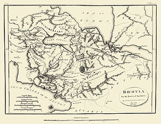 Boeotia - 18th century map of ancient Boeotia.