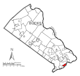 Map of Bristol, Bucks County, Pennsylvania Highlighted.png