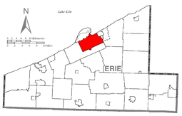 Location in Erie County